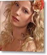 Portrait Of A Beautiful Young Woman Metal Print