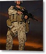 Portrait Of A U.s. Marine In Uniform Metal Print