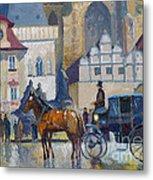 Prague Old Town Square 01 Metal Print by Yuriy  Shevchuk