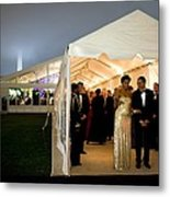 President And Michelle Obama Wait Metal Print