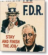 Presidential Campaign, 1940 Metal Print