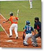 Professional Baseball Game In Taiwan Metal Print