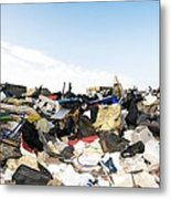 Recycling Collection Point Metal Print