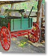 Red Wheels Metal Print