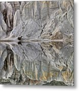 Reflection On Blue Lake, St Bathans Metal Print