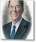 Ronald Reagan (1911-2004) Metal Print by Granger