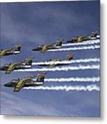 Saab 105 Jet Trainers Of The Swedish Metal Print