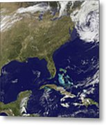 Satellite View Of The United States Metal Print
