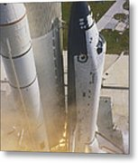 Shuttle Lift-off Metal Print