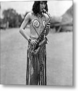 Silent Film Still: Music Metal Print
