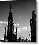 Sir Walter Scott Monument Princes Street Edinburgh Scotland Uk United Kingdom Metal Print