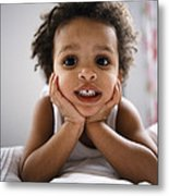 Smiling Boy Metal Print
