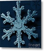 Snow Crystal Metal Print