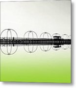 Southport Pier Reflections  Metal Print