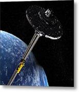 Space Elevator, Artwork Metal Print