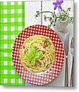 Spaghetti Al Pesto Metal Print by Joana Kruse