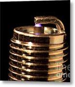 Spark Plug Firing Metal Print