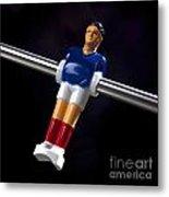 Tabletop Soccer Figurine Metal Print by Bernard Jaubert