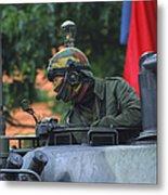 Tank Commander Of A Leopard 1a5 Mbt Metal Print