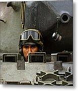 Tank Driver Of A Leopard 1a5 Mbt Metal Print