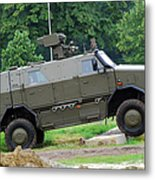 The Dingo 2 Mppv Of The Belgian Army Metal Print