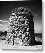 the memorial cairn on Culloden moor battlefield site highlands scotland Metal Print