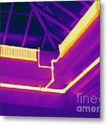 Thermogram Of Steam Pipes Metal Print