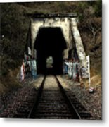 Train Tunnel At The Muir Trestle In Martinez California . 7d10220 Metal Print