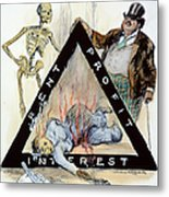 Triangle Factory Fire Metal Print