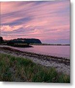 Twilight After A Sunset At A Beach Metal Print by Ulrich Schade