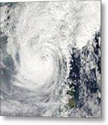 Typhoon Megi Metal Print