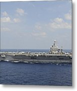 Uss Abraham Lincoln Transits The Indian Metal Print