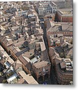 View Of Bologna From The Torre Degli Metal Print