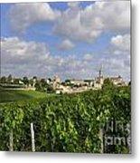 Village And Vineyard Of Saint-emilion. Gironde. France Metal Print