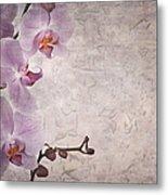 Vintage Orchids Metal Print by Jane Rix