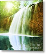 Waterfall Pool Metal Print