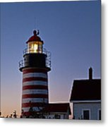West Quoddy Head Lighthouse Metal Print by John Greim