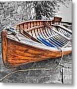 Wood Boat Metal Print