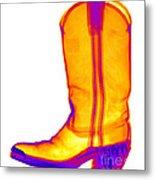 X-ray Of A Cowboy Boot Metal Print