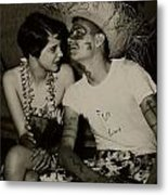 Young Love 1950s Metal Print by Cathryn  Brown