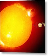 Sun And Its Planets Metal Print