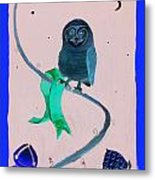 2008 Owl Negative Metal Print