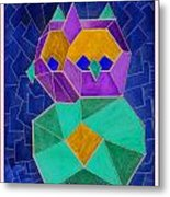 2010 Cubist Owl Negative Metal Print by Lilibeth Andre