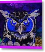 2011 Dreamy Horned Owl Negative Metal Print by Lilibeth Andre