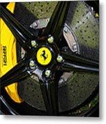 2012 Ferrari 458 Spider Brake Pad Yellow Metal Print