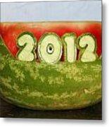 2012 Watermelon Carving Metal Print
