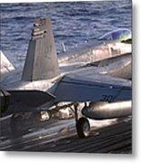 An Fa-18c Hornet Launches Metal Print