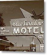Route 66 - Blue Swallow Motel Metal Print