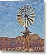 Water Pump Windmill Metal Print