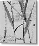 Water Reed Digital Art Metal Print